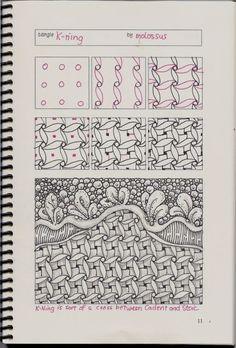 New tangle pattern Tricorn & redo of K-ning #zentangle | lifeimitatesdoodles