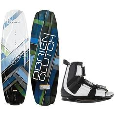 O'Brien Clutch Wakeboard 142 + Slingshot Wakeboard Binding Mens Sz L/XL (11+)