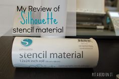 My Review of Silhouette Stencil Material {spoiler alert: it's amazing!} + a tutorial for cutting it with your Silhouette Cameo #ilovemysilhouette