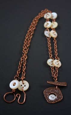 Crafty Hope: Toggle Focal and Vintage Button necklace