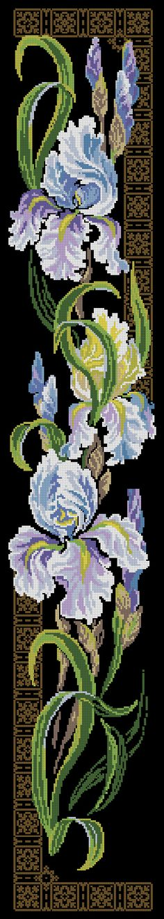 Free Patterns for Cross Stitch - Flowers & Garden Cross Stitch Bookmarks, Cross Stitch Borders, Cross Stitch Flowers, Cross Stitch Charts, Cross Stitch Designs, Cross Stitching, Cross Stitch Embroidery, Embroidery Patterns, Hand Embroidery