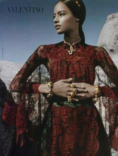 Malaika Firth for Valentino Spring 2014 Campaign