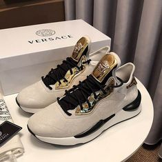 c4e3852a3f859 Shop Versace Medusa Head Running Sneakers on sale here now