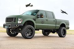 airforce Bomber inspired Ford F-150 lifted truck