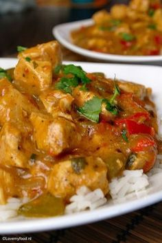 Crockpot: Spicy curry with chicken - LoveMyFood - Crockpot: Spicy curry with chicken – LoveMyFood - Slow Cooker Huhn, Crock Pot Slow Cooker, Slow Cooker Chicken, Slow Cooker Recipes, Healthy Slow Cooker, Healthy Crockpot Recipes, Slow Cooking, Slowcooker Curry, Tika Massala