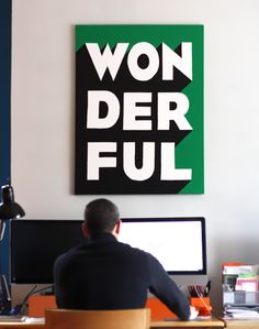 DIY typography wall art