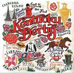 . My Old Kentucky Home, Kentucky Derby, Churchill Downs, N21, Illustration, Blood, Flower, Illustrations, Flowers