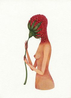 From the series Femina Plantarum. Print now available on Etsy @ http://www.etsy.com/shop/elsita