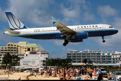 Always cool to see this shot from St. Maarten. United A320