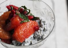 Chia-Coconut Pudding with Citrus, Pomegranate and Mint