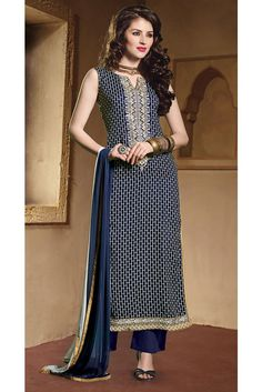 Attract the spotlight among the crowd wearing this unstitched palazzo suit material.The kameez is adorned with beautifully printed rectangular motifs. A shiny patch border is attached. Accompanied by a matching cotton bottom and a chiffon dupatta. Palazzo Dress, Palazzo Suit, Salwar Suits, Salwar Kameez, Diwali Sale, Women Empowerment, Business Women, Chiffon, Platform