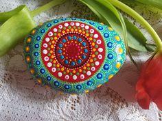 Mandala art hand painted stone gratitude by RockYourWorld7 on Etsy