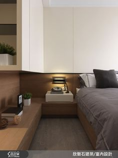 custom joinery in a master bedroom.