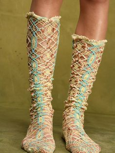 Free People Cats Cradle Over The Knee Socks, 0.00