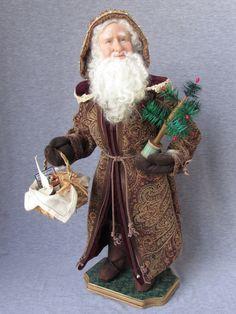 He's on His Way !!  Better Be Good! #santaclaus#handmade Nonna's Santa Claus on etsy  OOAK Handmade Santa by NonnasSantas