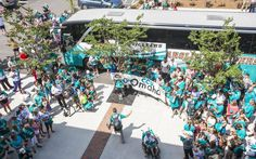 Hundreds of fans gathered Thursday at Coastal Carolina University to cheer on the Chanticleers as the team left for the the College World Series in Omaha, Neb.