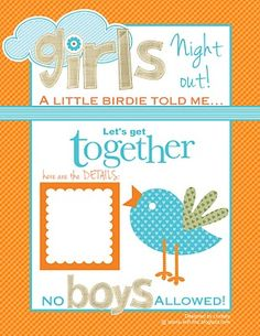 Free Printable Girls Night Out Flyer by StampWithLinz