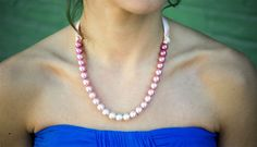 """DIY Ombre Pearl Bridesmaids Necklace from Betterbook's """"Make Your Wedding"""""""