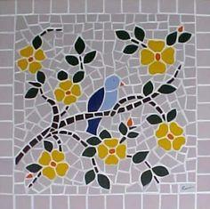 Mosaico Ana Loureiro-Mesa lateral 40x40, sob encomenda.