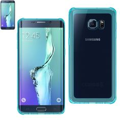Reiko Samsung Galaxy S6 Edge Plus Transparent TPU Case With Air Cushion Shock Absorption Technology In Clear Navy