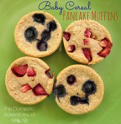 Baby Cereal Pancake Muffins: Use Up That Leftover Baby Food!