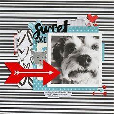 Sweet Face - Scrapbook.com #scrapbooktips #memoriesscrapbook #scrapbooklayouts