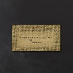 Burlap - Place Card | KSW Exclusive Invitations