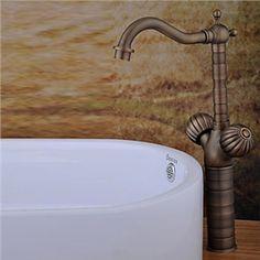 Antike Messing Oberfläche Bad Waschtischarmatur (tall)