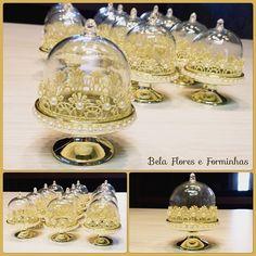 Mini cúpula para docinho decoradas  somente para princesas!!! #festamenina #festadourado #lembran - finoafetopresentes Wedding Favors, Party Favors, Wedding Gifts, Mini Cupula, Royal Party, Prince Party, Bridal Shower, Baby Shower, Cinderella Party