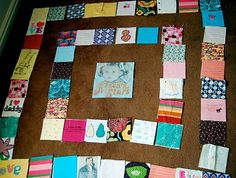 Step by step, how to make a quilt from baby clothes...vermillion rules: QUILT ALONG WEEK THREE: SEWING THE QUILT TOP