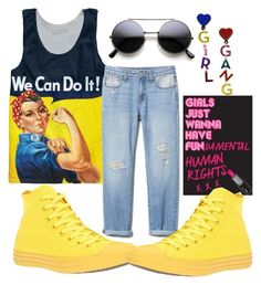 """Girl Pride"" by pramesvvari on Polyvore featuring Converse, womensHistoryMonth, pressforprogress and GirlPride"