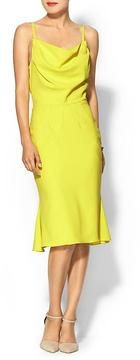 Slinky Citron. A total head turner. Zac Posen ZAC Woven Mini Dress.