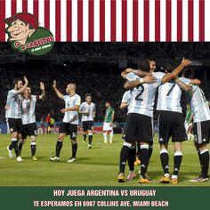 Hoy en Lo de Carlitos Miami Beach alentamos a la selección !! Argentina-Uruguay, por eliminatorias para Rusia 2018