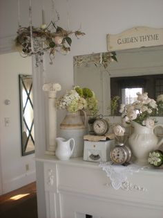 Spring mantel: A Shabby Moment in Time