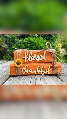Fall Wood Crafts, Wood Block Crafts, Thanksgiving Crafts, 2x4 Crafts, Wooden Crafts, Wood Blocks, Fall Projects, Dollar Tree Crafts, Fall Home Decor