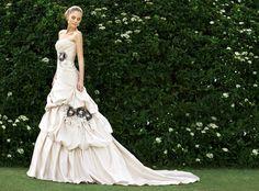 Gorgeous flower wedding gown