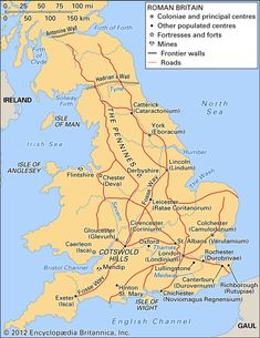 Map of Roman Britain European History, British History, American History, Ancient Rome, Ancient Aliens, Ancient Greece, Roman Empire Map, Map Of Great Britain, United Kingdom Map