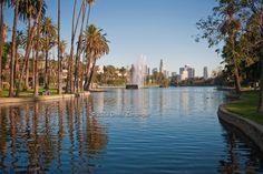 Echo, Park, Lake, Echo Park, Los Angeles, CA, California English, I Love La, Park Pictures, Echo Park, Places To Visit, Skyline, David, River, History