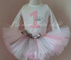 Check out this item in my Etsy shop https://www.etsy.com/ca/listing/214612846/pink-and-silver-1st-birthday-outfit