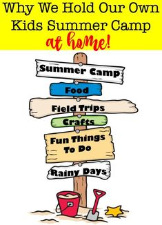 Why we love to hold our own kids summer camp at home! Camps lessons and activities for 6 kids can lead to a busy (and expensive) summer schedule! Heres why we love to hold our own kids summer camp at home (and some ideas on how you can do it too! Camping Games, Camping Activities, Summer Activities, Camping Ideas, Family Activities, Luxury Camping Tents, Tent Camping, Summer Schedule, Travel Crafts