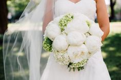 White bridal bouquet with a hint of green. Photo by Christen Morrison Floral by Southern Event Planners Christening, Southern, Green Photo, Event Planners, Bridesmaid, Fancy, White Bridal, Bridal Bouquets, Celebrities