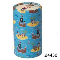 .24450 _ 36 lápis de cor piratas | 36 pencil tube pirate (altura|height 10cm) _ ♥ 5.00  www.atelierdatufi.com | info@atelierdatufi.com