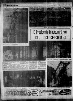 Inaugurado el Teleférico de Caracas. Publicado el 11 de diciembre de 1955.