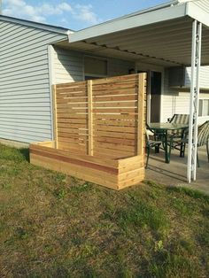"""Raised bed/planter/fence/privacy screen - this is a conglomeration of several items I saw in magazines and catalogs. I plan on building lots of these to use as planters. Add a lid for storage, composting, extra seating. Or a sloped cold frame lid to garden in cooler weather. This one is 64"""" high, but I plan on making some at 48"""" and 32"""" too. I used 1x4x8 cedar boards and deck screws. I'll probably add some hooks and shelves too - the possibilities seem endless! #homesecurityfence"""