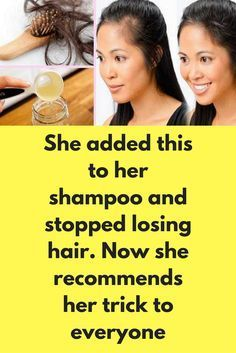 She added this to her shampoo and stopped losing hair. Now she recommends her trick to everyone Ingredients: natural shampoo with neutral pH. ten drops of essential rosemary oil – it is great for reactivating the blood flow and giving your hair strength. ten of essential lemon oil – It is a great antiseptic and is refreshing. two vitamin E capsules – It is a basic and ideal component for fighting hair loss. Preparation: The …