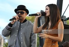 Singers Sean Paul and Victoria Justice perform at the Rally For Moral Action On Climate Justice on The National Mall on September 24, 2015 in Washington, DC.