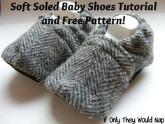 Free Sewing Pattern & Tutorial: Soft-soled, stay-on brand inspired baby shoes, from http://ifonlytheywouldnap.wordpress.com (6 Dec. 2012). #bootees #booties #toddler