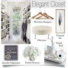 Elegant Closet by lgb321 on Polyvore featuring interior, interiors, interior design, home, home decor, interior decorating, Currey & Company, Natural Curiosities, New Growth Designs and PERIGOT