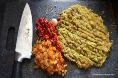 Salata de vinete cu ardei copti si usturoi | Savori Urbane