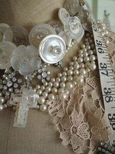 buttons and pearls